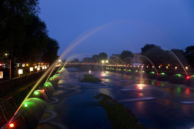 清流千歳川噴水フェスティバル
